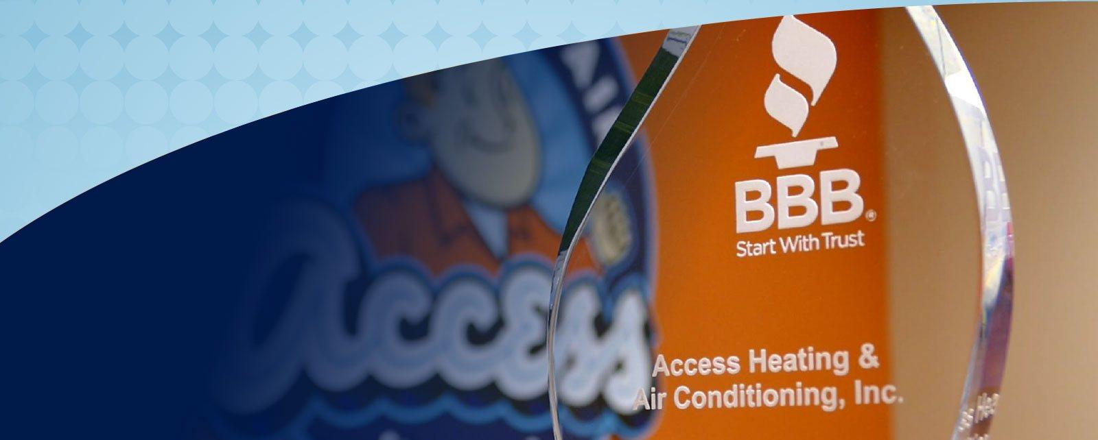 Access Heating & Air BBB Torch Winner